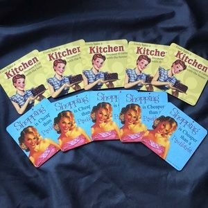 Retro Woman Kitschy COASTERS~set of 10~